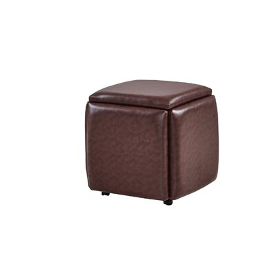 Peirce 5-in-1 Cube Ottoman Upholstery: Brown