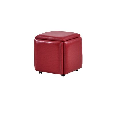 Peirce Storage Ottoman Upholstery: Red