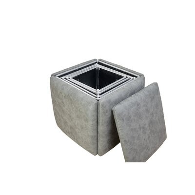 Peirce 5-in-1 Cube Ottoman Upholstery: Gray