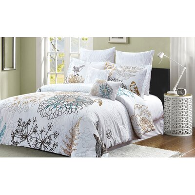 Ali 7 Piece Comforter Set Size: Queen