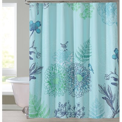 Phoebe Shower Curtain Color: Aqua