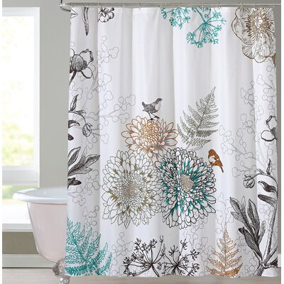 Phoebe Shower Curtain Color: White