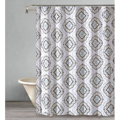 Crick Star Cotton Shower Curtain
