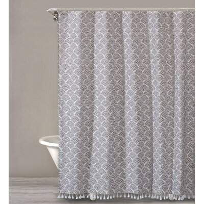 Criddle Dots Cotton Shower Curtain Color: Beige