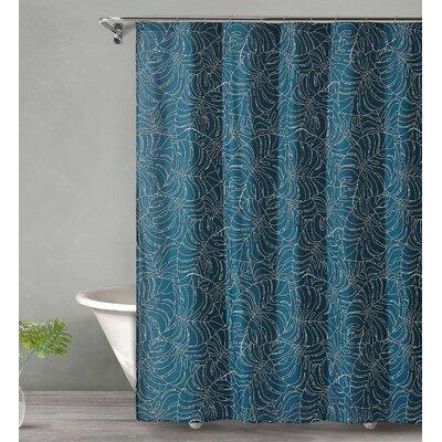 Dorrington Tropical Midnight Cotton Shower Curtain