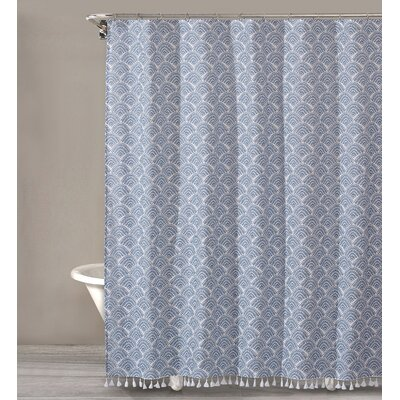 Criddle Dots Cotton Shower Curtain Color: Blue