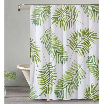 Bonham Breezy Palm Cotton Shower Curtain