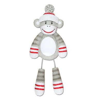 Child Sock Monkey Shaped Ornament POLARX-OR928