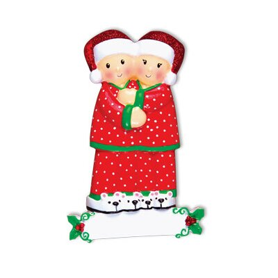 Family Series Pajama Family Couple Shaped Ornament Number Of: 2 +470-2