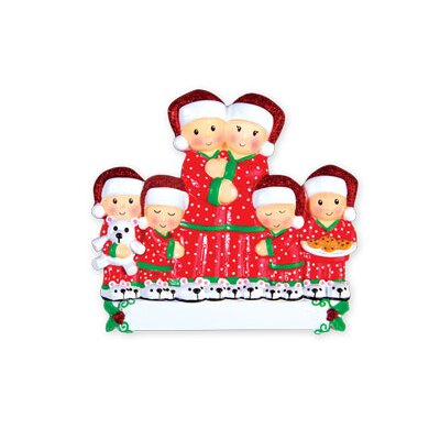 Family Series Pajama Family Couple Shaped Ornament Number Of: 6 +470-6
