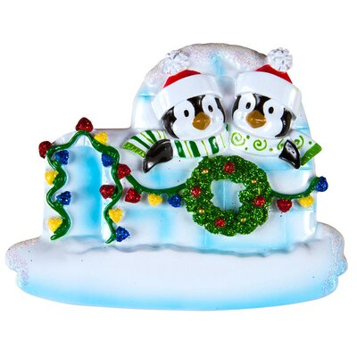 Family Series Penguin/Igloo Shaped Ornament Number Of: 2 +69-2
