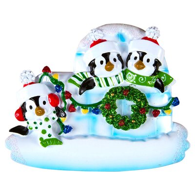 Family Series Penguin/Igloo Shaped Ornament Number Of: 3 +69-3