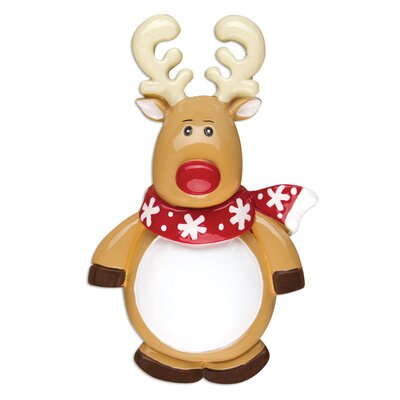 Reindeer General Christmas Character Shaped Ornament POLARX-OR13