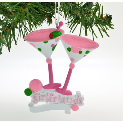 Personalized Christmas Ornament Martini Glass Friends Hanging Figurine POLARX-OR6+44-2