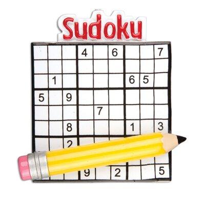 Sudoku Hobbies and Activities Hanging Figurine POLARX-OR1128