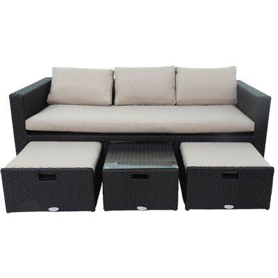 Batterton Modular 4 Piece Deep Seating Group with Cushion