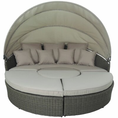 Haven 4 Piece Modular Round Canopy Daybed Set