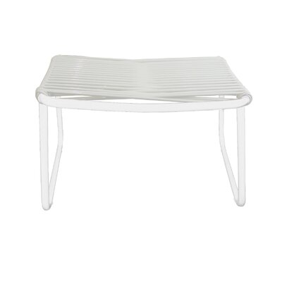 Andre Jelly Aluminum Ottoman Finish: White