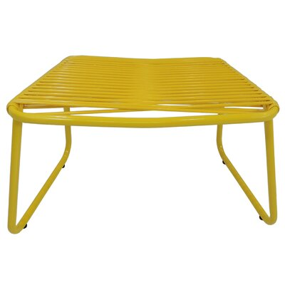 Andre Jelly Aluminum Ottoman Finish: Yellow