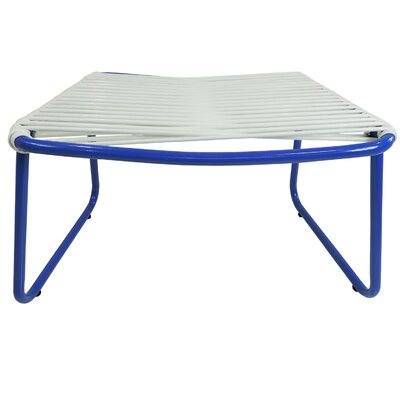 Andre Jelly Aluminum Ottoman Finish: White/Blue