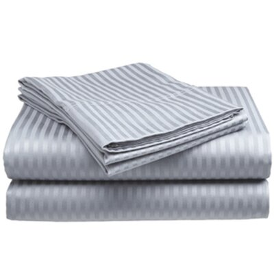 400 Thread Count Sheet Set Color: Silver, Size: Twin