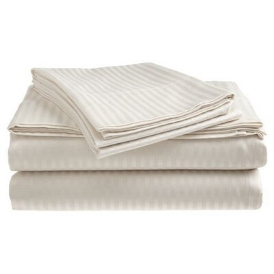 Satin 300 Thread Count 4 Piece Sheet Set Color: White