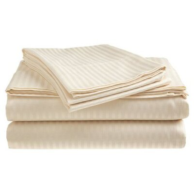 Satin 300 Thread Count 4 Piece Sheet Set Color: Beige
