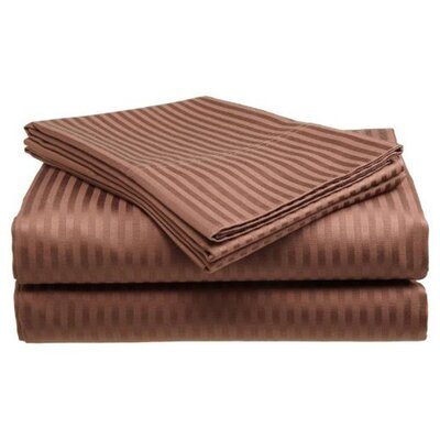 400 Thread Count Sheet Set Color: Coffee, Size: Twin