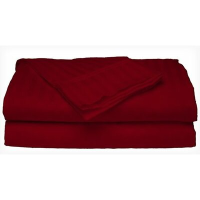 Satin 300 Thread Count 4 Piece Sheet Set Color: Burgundy