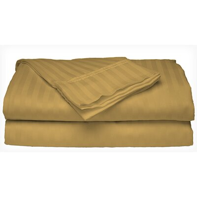 Satin 4 Piece Sheet Set Color: Gold