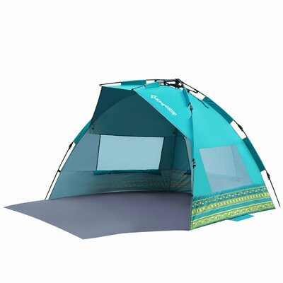 Mississipi Fantasy Portable Quick Set Up 4 Person Anti-UV Beach Tent