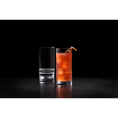 Crafthouse by Fortessa Signature Etched Iced Beverage Collins Cocktail 16.2 oz. Highball Glass