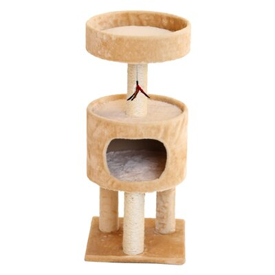 33 Mundell Plush Suite Cat Tree Color: Beige