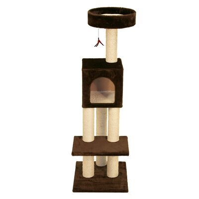 53 Mumford Fun Tower Cat Tree Color: Brown