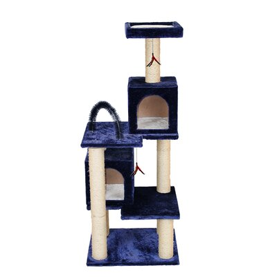 58 Multi-tier Play Tower Cat Tree Color: Blue