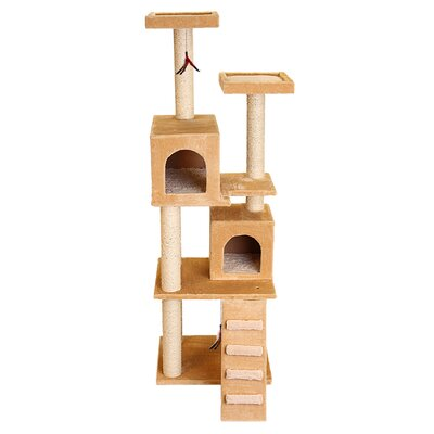 70 Super Play Center Cat Tree Color: Beige