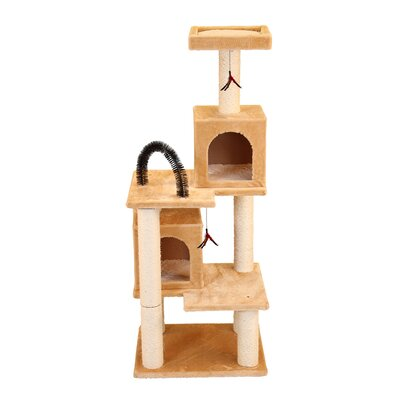 58 Multi-tier Play Tower Cat Tree Color: Beige