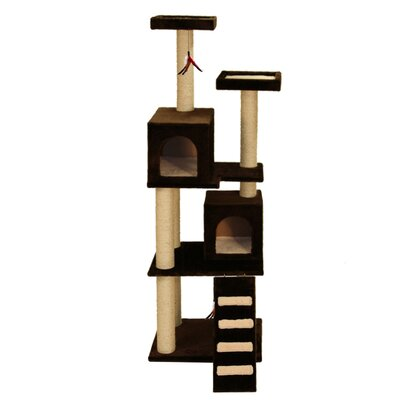 70 Super Play Center Cat Tree Color: Brown