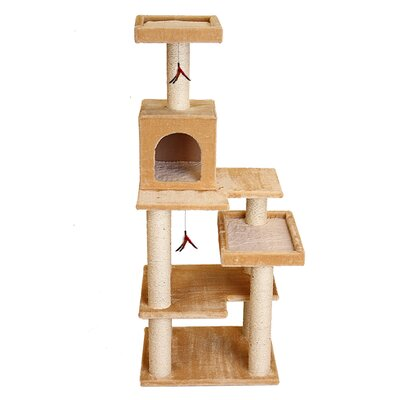 58 Mummert Multi Leveled Playground Cat Tree Color: Beige