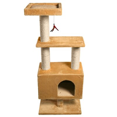 45 Apartment Cat Tree Color: Beige