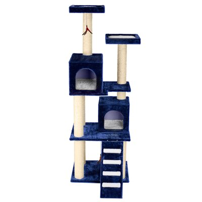 70 Super Play Center Cat Tree Color: Blue