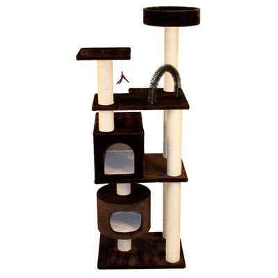 66 Junglegym Cat Tree Color: Brown