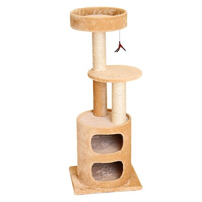45 Mulvaney Cat Tree Color: Beige