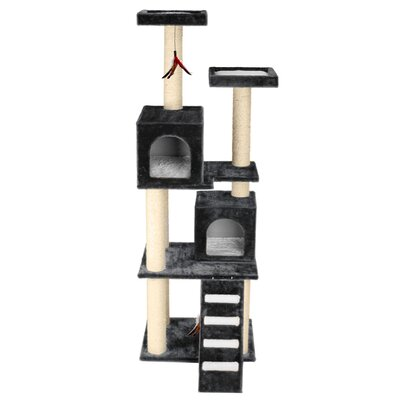 70 Super Play Center Cat Tree Color: Gray