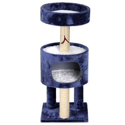 33 Mundell Plush Suite Cat Tree Color: Blue