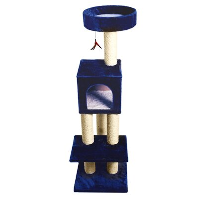 53 Mumford Fun Tower Cat Tree Color: Blue
