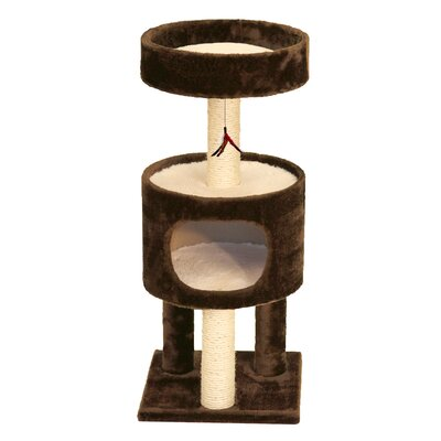 33 Mundell Plush Suite Cat Tree Color: Brown