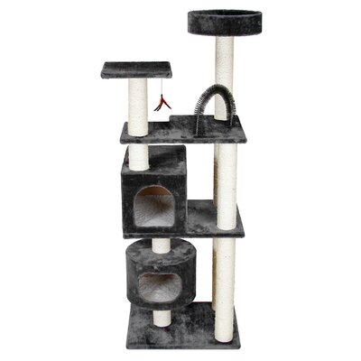 66 Mulvey Cat Tree Color: Gray