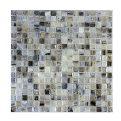 Piazza 0.5 x 0.5 Glass Mosaic Tile in Gray