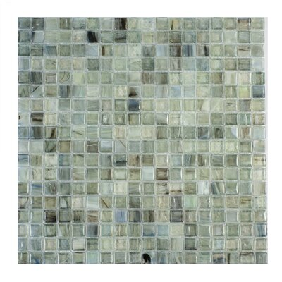 Piazza 0.5 x 0.5 Glass Mosaic Tile in Green